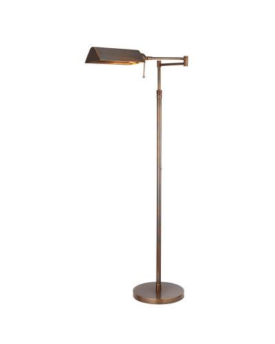 Interiors 1900 Rochamp Clarendon Task Floor, Vintage Brass Task Floor Lamp