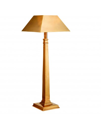 Interiors 1900 Rochamp Farley Solid Brass Table Lamp With Shade