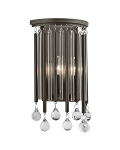 Elstead Lighting Kichler Piper 2 Light Wall Light In Espresso Finish