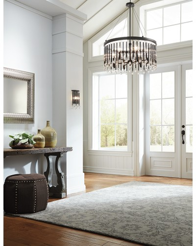 Elstead Lighting Kichler Piper 6 Light Chandelier/Pendant In Espresso Finish
