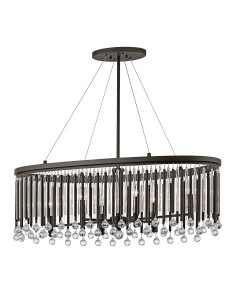 Elstead Lighting Kichler Piper 6 Light Oval Chandelier/Pendant In Espresso Finish