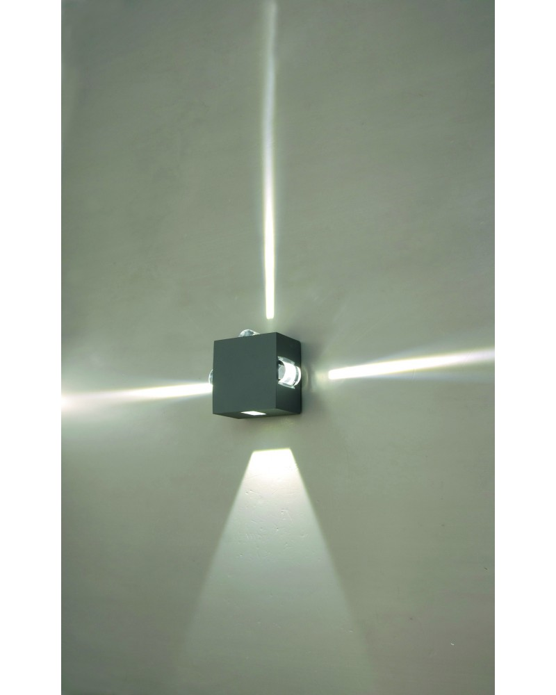 elstead lighting evans 10w led outdoor wall light in graphite finish