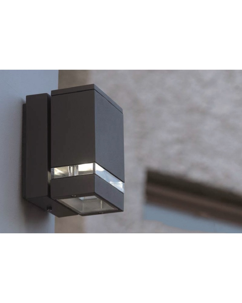 Elstead Lighting Focus LED 7.6W Outdoor Twin Wall Light In Dark Grey Finish - This is the Focus ...