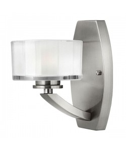 Elstead Lighting Hinkley Meridian 1 Light Wall Light In Brushed Nickel Finish
