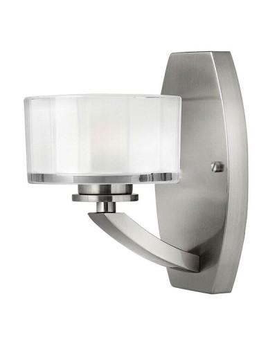 Elstead Lighting Hinkley Meridian 1 Light Wall Light In Brushed Nickel Finish