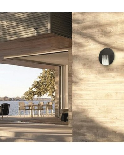 Elstead Lighting Mask 9W LED Outdoor Wall Light In Graphite Finish