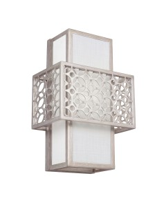Feiss Kenney 1 Light Wall Light In Sunrise Silver Finish