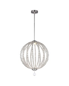 Feiss Oberlin 2 Light Medium Pendant In Satin Nickel Finish (2 x 8W LED) With Height Adjustable Rods