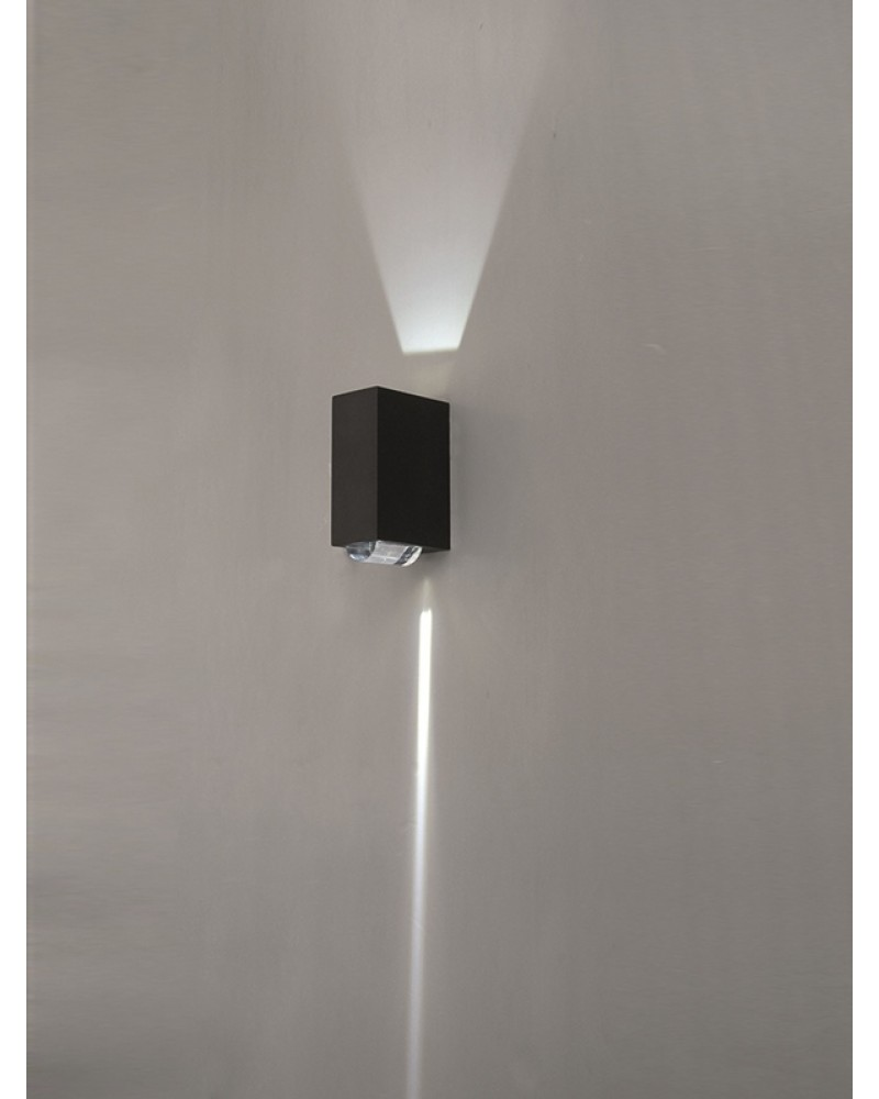 Elstead lighting evans 6w led outdoor wall light in graphite finish elstead lighting evans 6w led outdoor wall light in graphite finish 2 way directional mozeypictures Image collections
