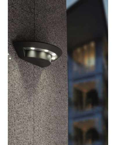 Elstead Lighting Ghost 12W LED Small Outdoor Wall Spotlight In Graphite Finish