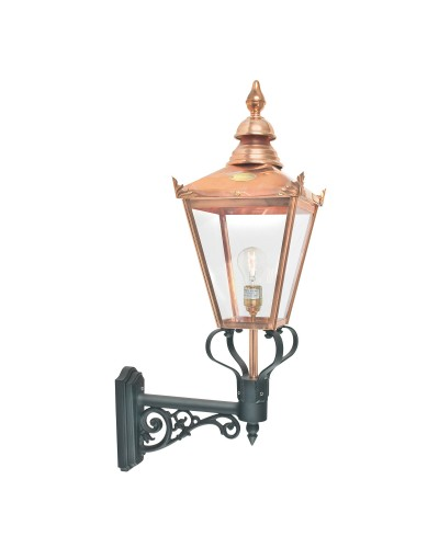 Elstead Lighting Norlys Chelsea 1 Light Outdoor Wall Lantern In Copper and Black Finish