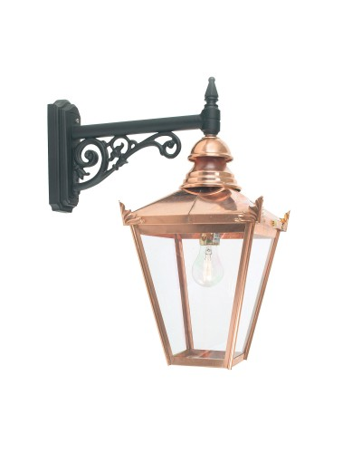 Elstead Lighting Norlys Chelsea 1 Light Outdoor Wall Lantern (Downward Facing) In Copper and Black Finish