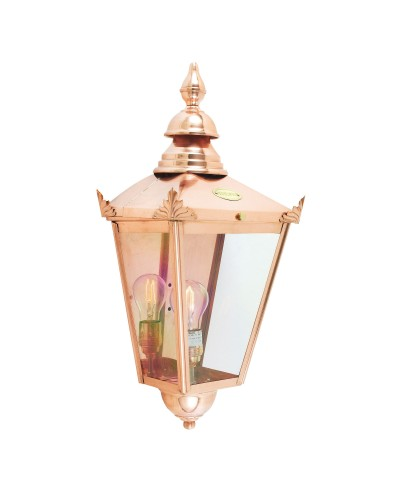Elstead Lighting Norlys Chelsea 1 Light Outdoor Large Half Wall Lantern In Copper Finish