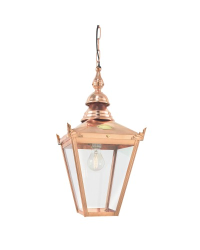 Elstead Lighting Norlys Chelsea 1 Light Outdoor Chain Lantern In Copper Finish