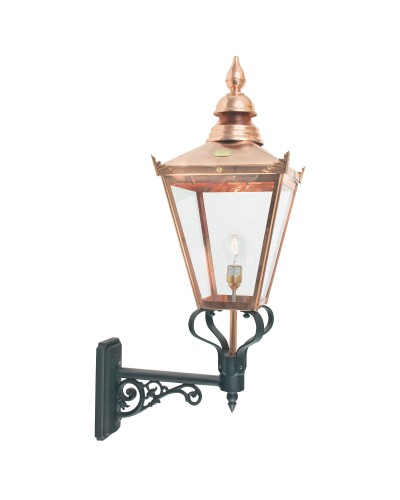 Elstead Lighting Norlys Chelsea Grande 1 Light Outdoor Wall Lantern In Copper and Black Finish