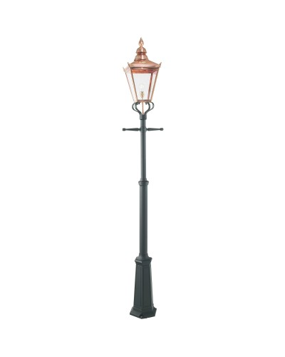 Elstead Lighting Norlys Chelsea Grande 1 Light Outdoor Lamp Post In Copper and Black Finish