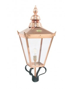 Elstead Lighting Norlys Chelsea Grande 1 Light Outdoor LANTERN HEAD ONLY In Copper and Black Finish