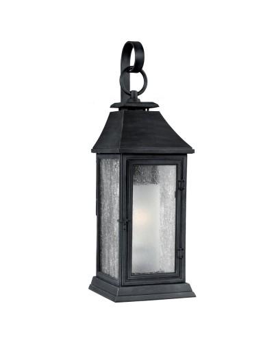 Feiss Shepherd 1 Light Outdoor Medium Wall Lantern in Dark Weathered Zinc Finish