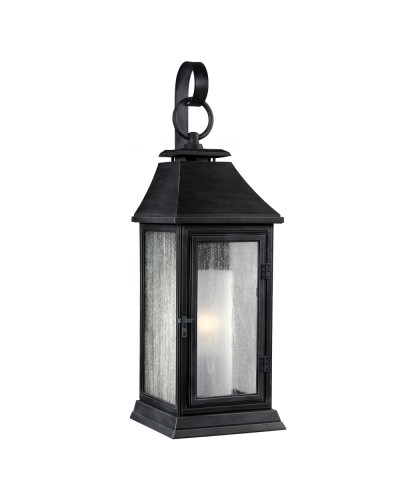 Feiss Shepherd 1 Light Outdoor Small Wall Lantern in Dark Weathered Zinc Finish