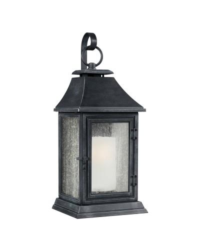 Feiss Shepherd 1 Light Outdoor Extra Large Wall Lantern In Dark Weathered Zinc Finish