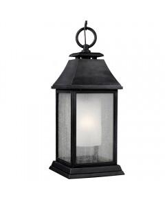 Feiss Shepherd 1 Light Outdoor Large Chain Lantern In Dark Weathered Zinc Finish
