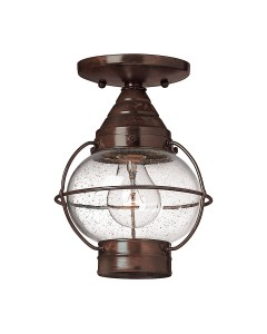 Hinkley Cape Cod 1 Light Outdoor Duo-Mount Medium Chain Lantern In Sienna Bronze