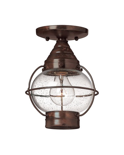 Hinkley Cape Cod 1 Light Outdoor Duo-Mount Medium Chain Lantern In Sienna Bronze