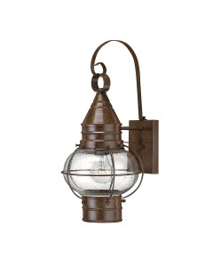 Hinkley Cape Cod 1 Light Outdoor Medium Wall Lantern In Sienna Bronze