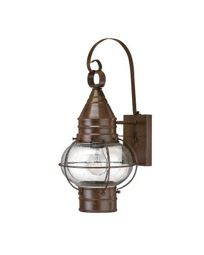 Hinkley Cape Cod 1 Light Outdoor Medium Wall Lantern In Sienna Bronze