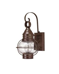Hinkley Cape Cod 1 Light Outdoor Small Wall Lantern In Sienna Bronze