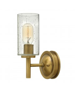 Hinkley Collier 1 Light Wall Light In Heritage Brass Finish