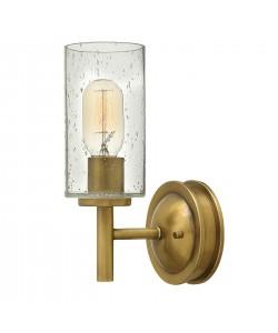 Elstead Lighting Hinkley Collier 1 Light Wall Light In Heritage Brass Finish