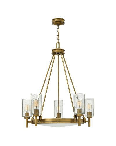 Hinkley Collier 5 Light Chandelier In Heritage Brass Finish