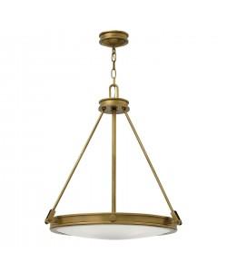 Elstead Lighting Hinkley Collier 4 Light Pendant In Heritage Brass Finish