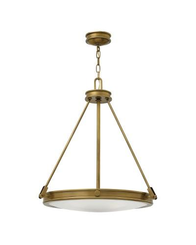 Hinkley Collier 4 Light Pendant In Heritage Brass Finish
