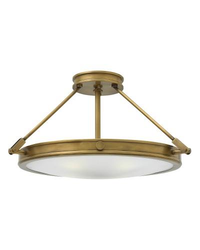 Elstead Lighting Hinkley Collier 4 Light Medium Semi-Flush Ceiling Light In Heritage Brass Finish