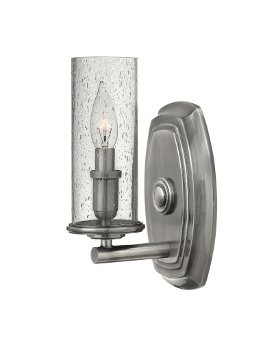 Elstead Lighting Hinkley Dakota 1 Light Wall Light In Polished Antique Nickel Finish