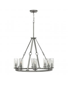 Elstead Lighting Hinkley Dakota 8 Light Chandelier In Polished Antique Nickel Finish