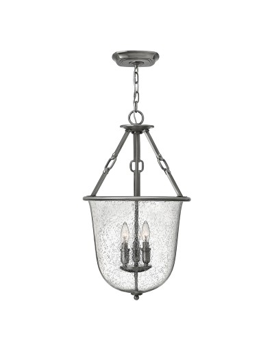 Elstead Lighting Hinkley Dakota 3 Light Lantern Pendant In Polished Antique Nickel Finish