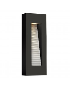 Elstead Lighting Hinkley Luna 2 Light LED Outdoor Medium Wall Light In Satin Black Finish