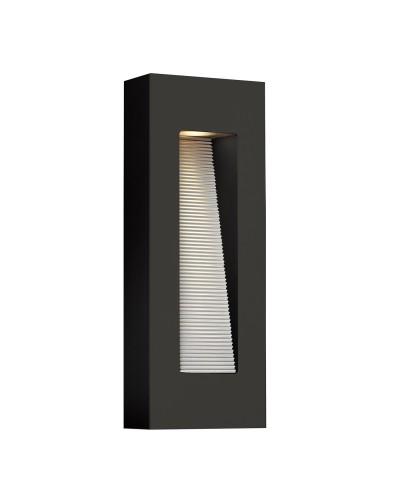 Elstead Lighting Hinkley Luna 2 Light LED Outdoor Medium Wall Light In Satin Black Finish