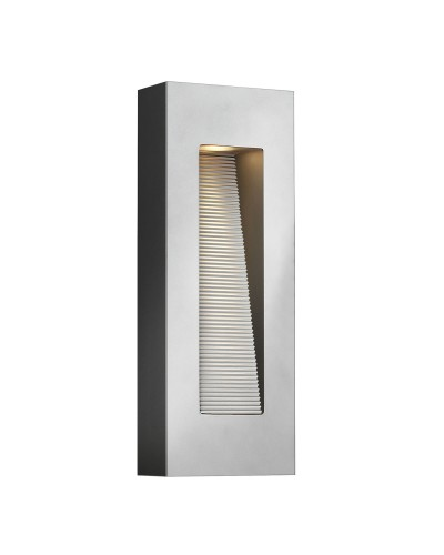 Elstead Lighting Hinkley Luna 2 Light LED Outdoor Medium Wall Light In Titanium Finish