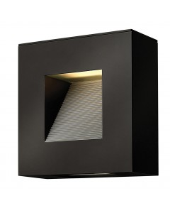 Elstead Lighting Hinkley Luna 2 Light LED Outdoor Small Wall Light In Satin Black Finish