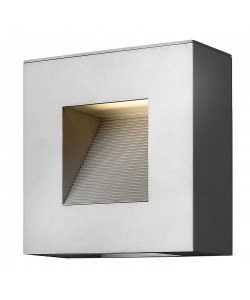 Elstead Lighting Hinkley Luna 2 Light LED Outdoor Small Wall Light In Titanium Finish