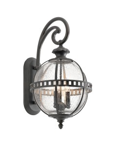 Elstead Lighting Kichler Halleron 3 Light Outdoor Medium Wall Lantern In Londonderry Finish