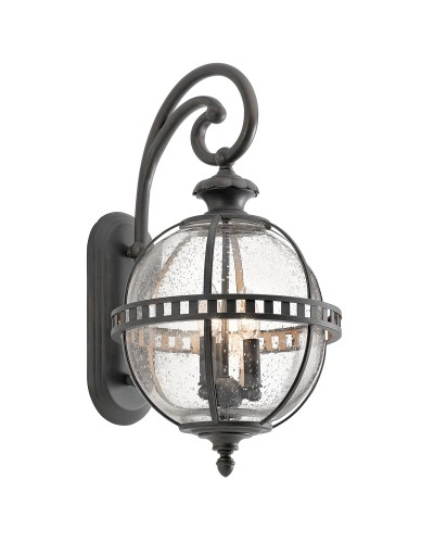 Elstead Lighting Kichler Halleron 3 Light Outdoor Medium Wall Lantern In Londonderry Finish