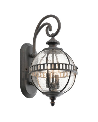 Elstead Lighting Kichler Halleron 2 Light Outdoor Small Wall Lantern In Londonderry Finish