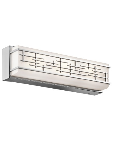 Elstead Lighting Kichler Zolon 21W LED Medium Linear Bathroom Wall Light In Chrome Finish (IP44)