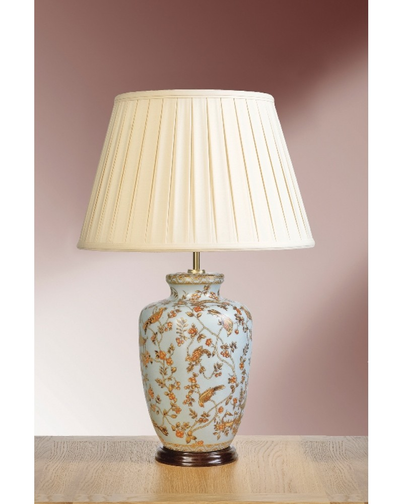 Lui 39 s collection gold birds berries oriental table lamp complete with oyster cotton box - Table lamp types ...