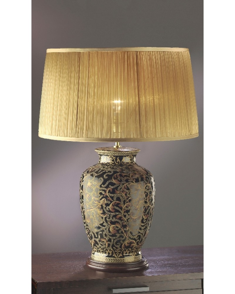 Collection morris large oriental table lamp in goldblack luis collection morris large oriental table lamp in goldblack complete with gold chiffon shade aloadofball Image collections